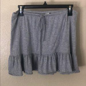 j crew grey drawstring cotton mini skirt skirts XS